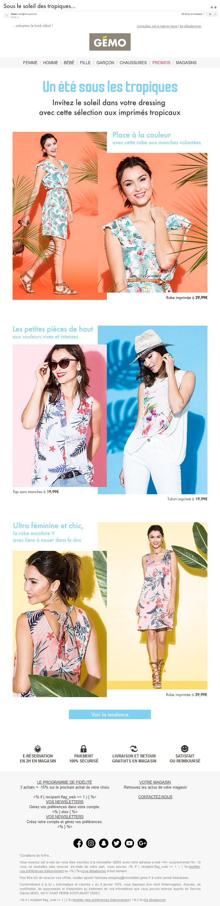 newsletter collection tropicale